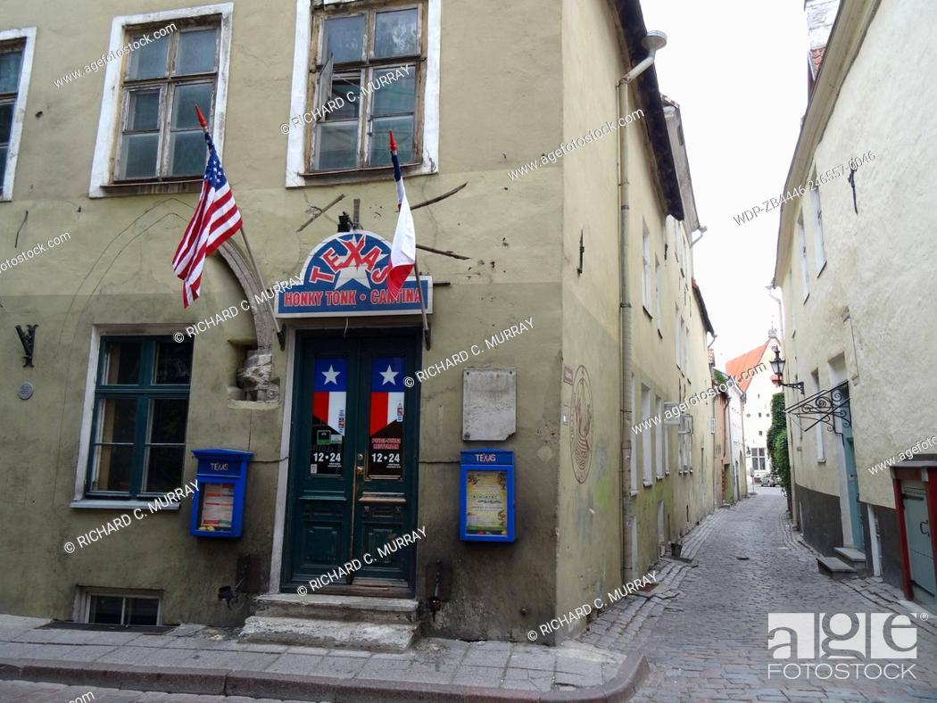 Stock Photo: Texas Honky Tonk & Cantina (Pikk 43 Address) Old Medieval Town Tallinn-Tallinn, Estonia.