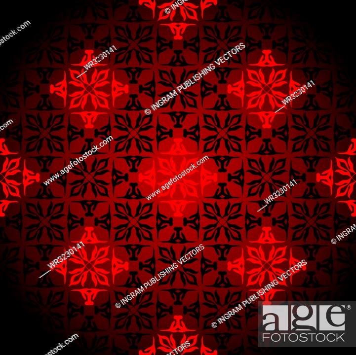 Vector: Diamond wallpaper background design with seamless pattern in red.