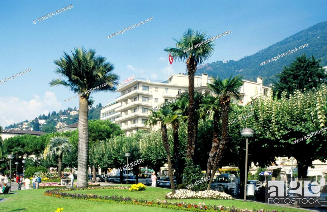 Stock Photo: Switzerland, Locarno : Lago Maggiore.