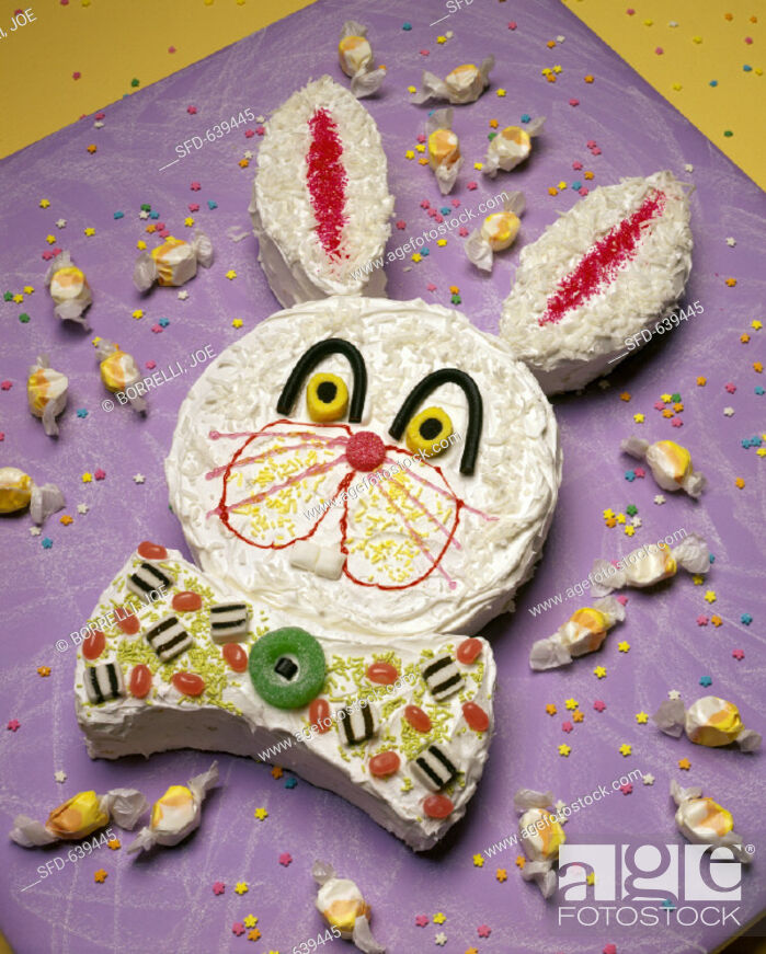 Stock Photo: Easter Bunny cake.