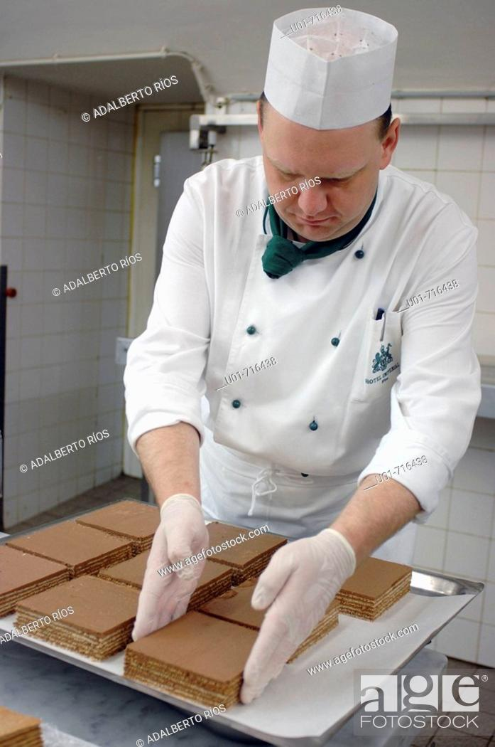 Stock Photo: Making imperial cakes. Wien. Austria.