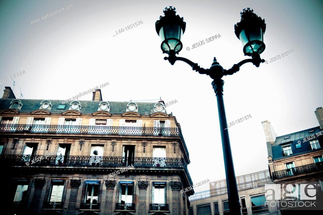 Stock Photo: Street in Paris, France.