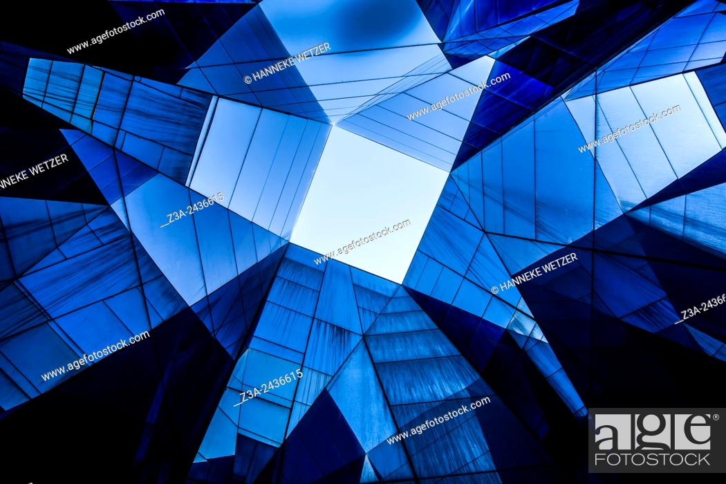 Stock Photo: Museu Blau, Forum Building by Herzog & de Meuron, Barcelona, Spain.