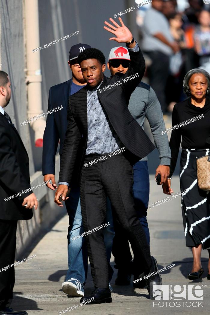 Chadwick Boseman Seen Arriving To The Abc Studios With His Family Featuring Chadwick Boseman Where Stock Photo Picture And Rights Managed Image Pic Wen Wenn23800164 Agefotostock