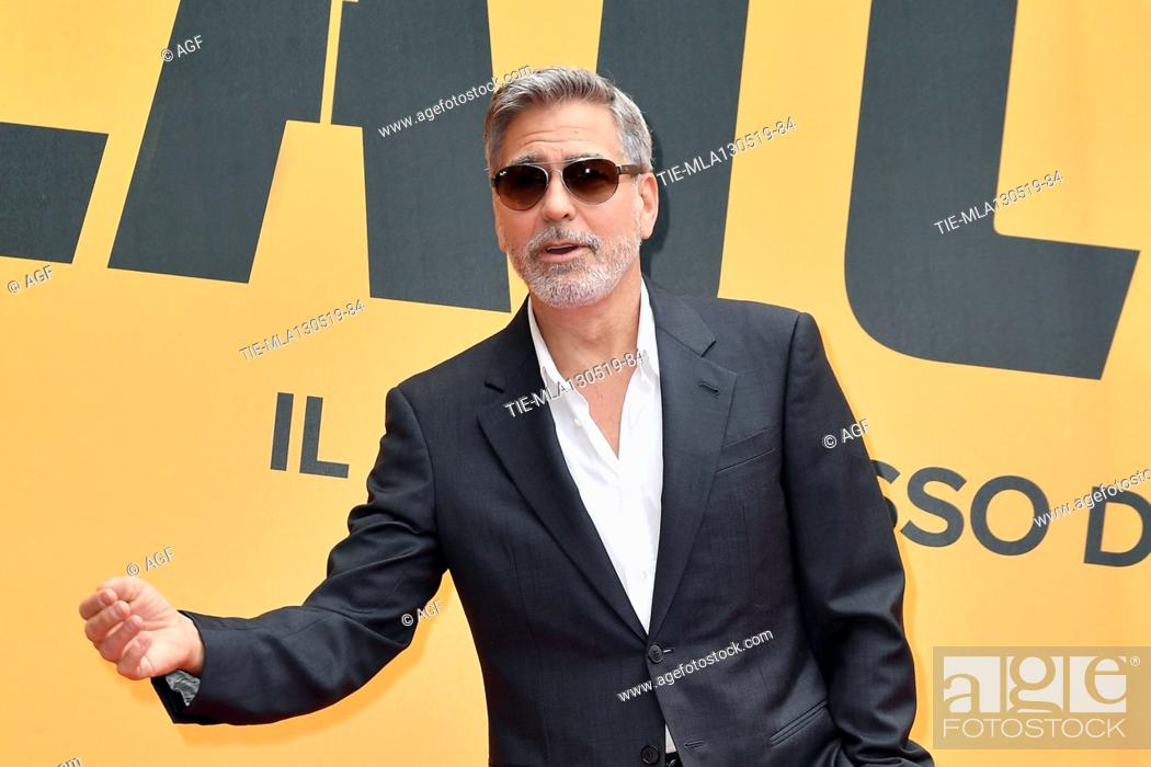 Photo de stock: George Clooney during 'Catch-22' TV show photocall, Rome, Italy - 13 May 2019.