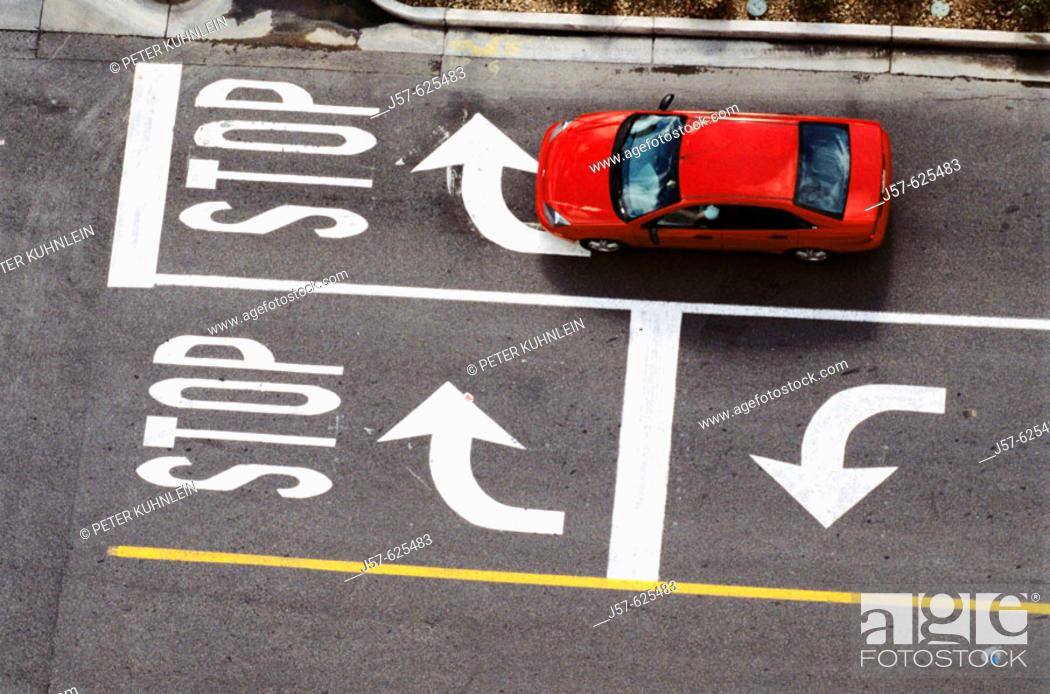 Stock Photo: Car driving through intersection. Las Vegas. Nevada. USA.