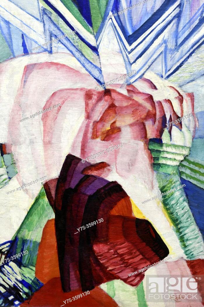 Stock Photo: Le Roman du rose no 1, 1923, Frantisek Kupka, Georges Pompidou museum Paris France.