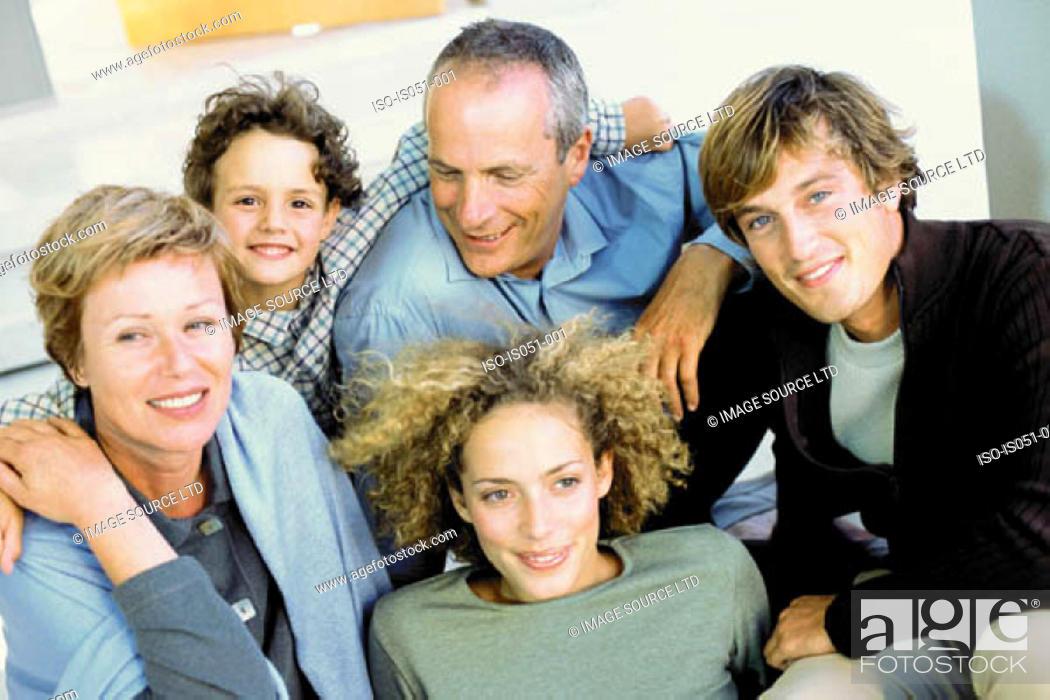 Stock Photo: Family Portrait of three generations.