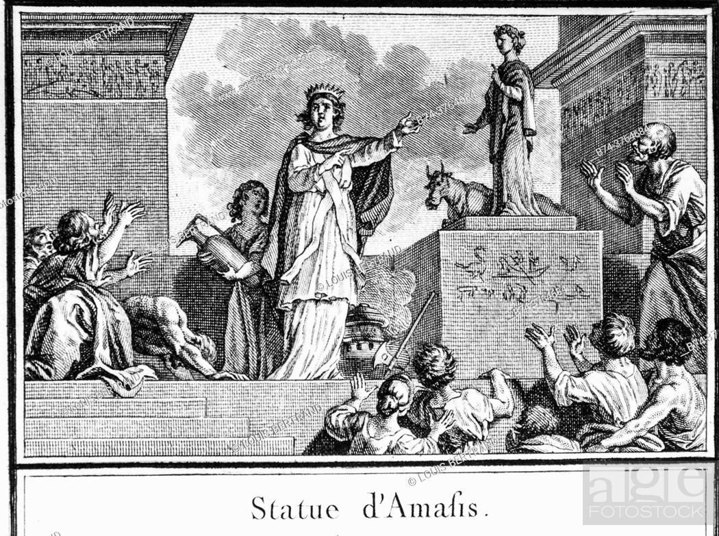 Stock Photo: Egyptian mythology, abbreviated editor of universal history 1850.