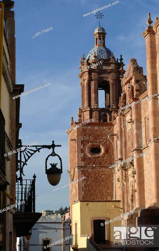 Stock Photo: Church of Santo Domingo, lateral facade. Zacatecas, Mexico.