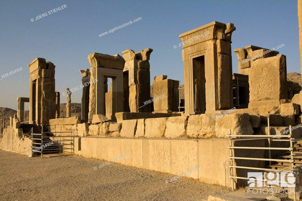 Stock Photo: Iran Perspolis Palace of Darius.