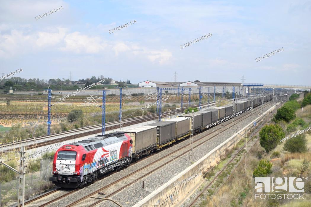Stock Photo: Diesel train.
