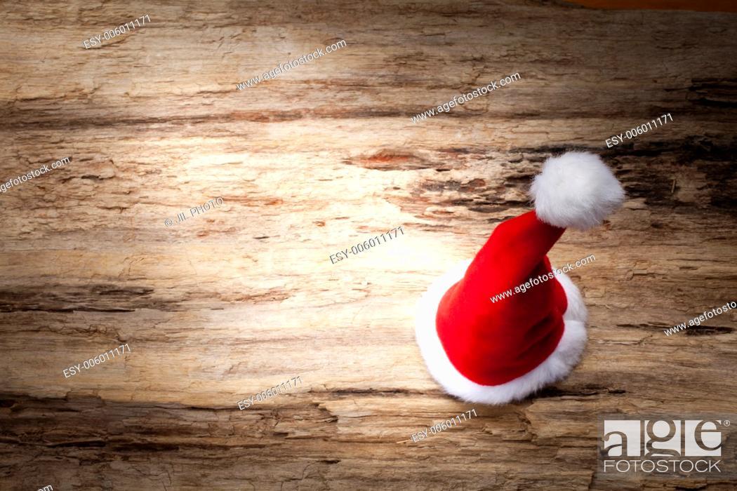 Stock Photo: Santa Claus hat.
