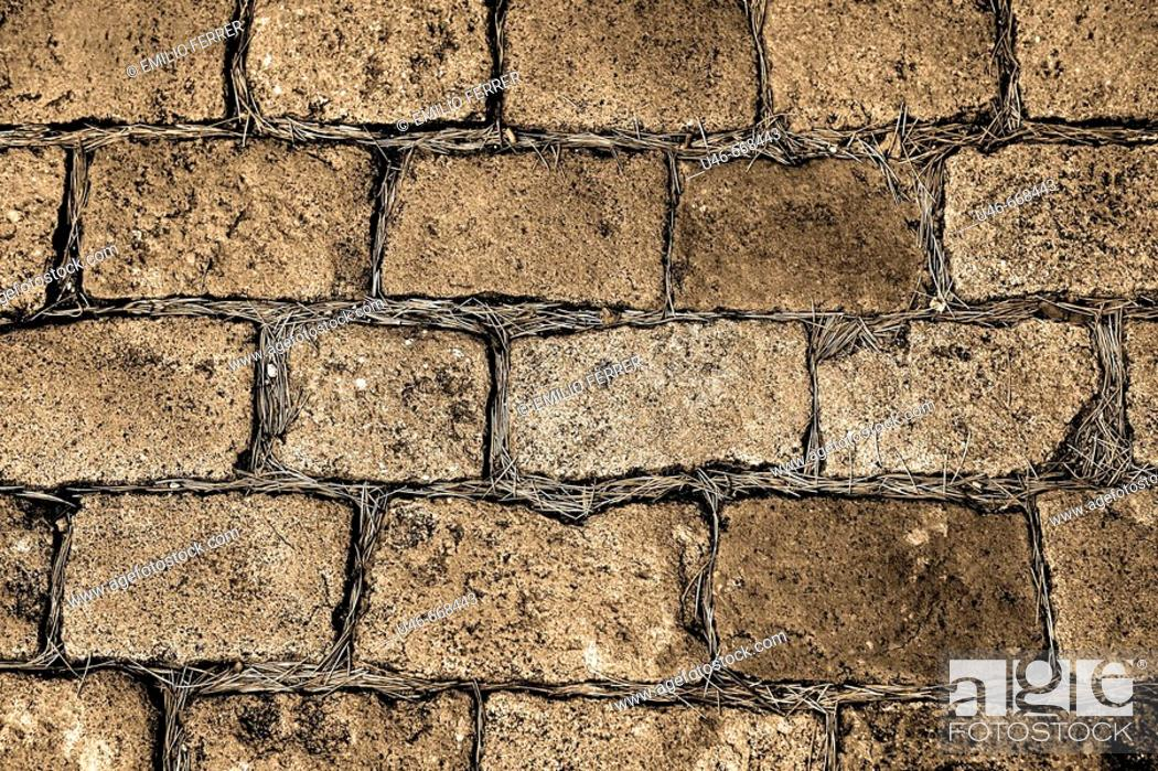Stock Photo: Paving stones on a street in Girona  Spain.
