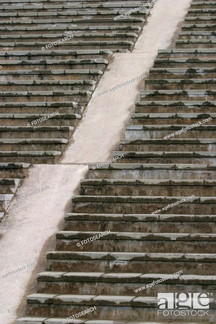 Stock Photo: path, architecture, style, steps, ascending, descending.