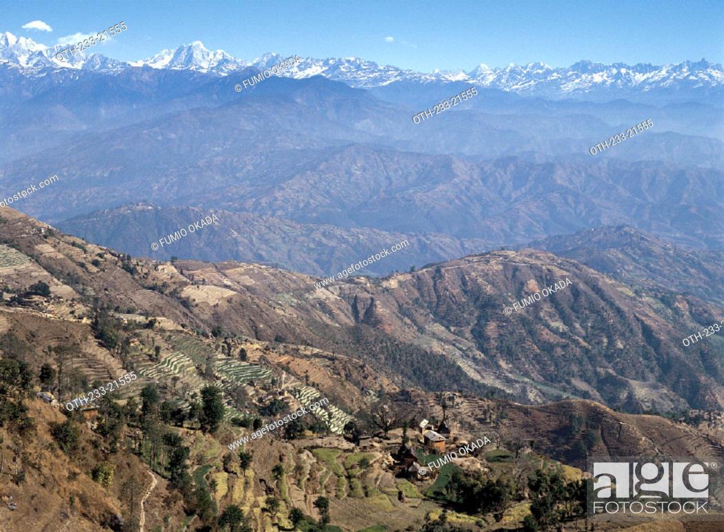 Imagen: Pokhara mountain range, Nepal.