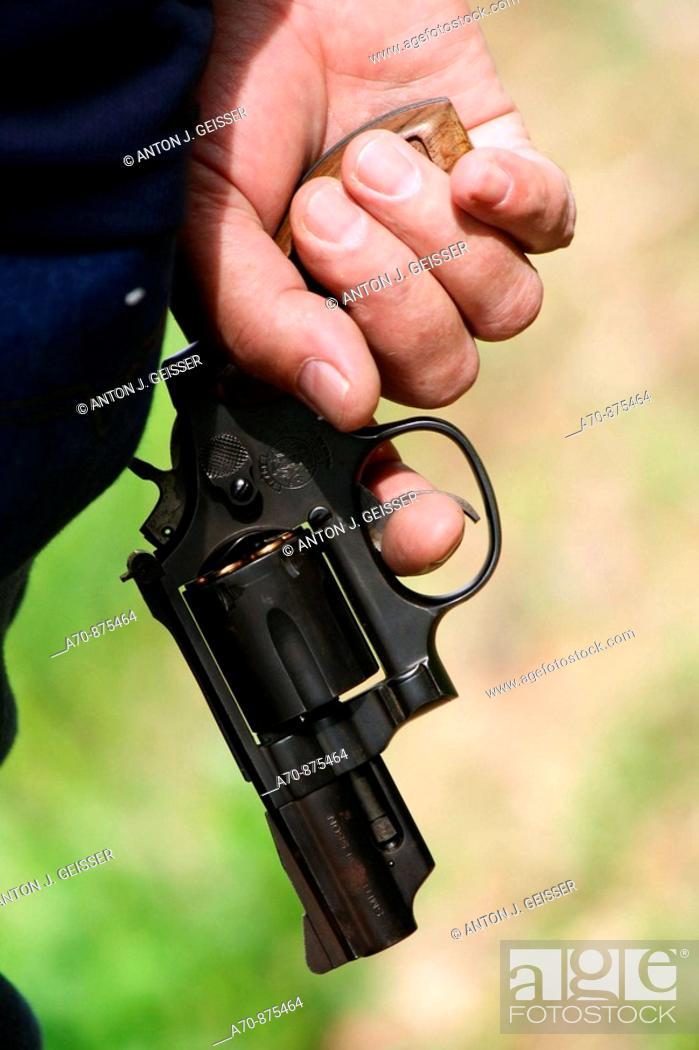 Stock Photo: Loaded revolver.