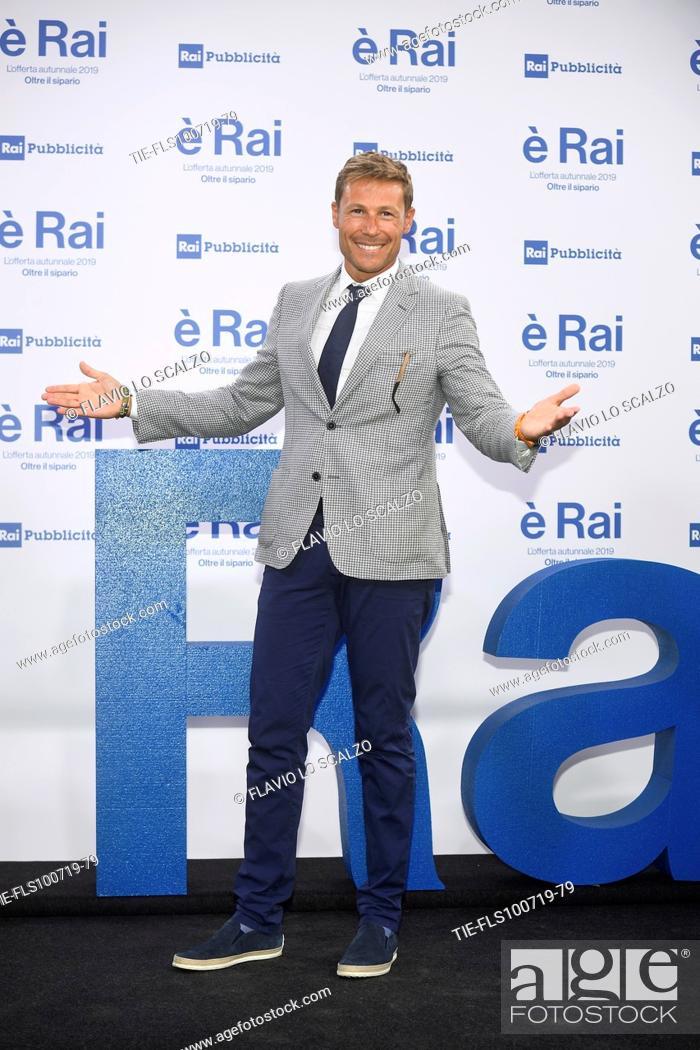 Stock Photo: Massimiliano Ossini during the Rai programming launch in Milan, ITALY-09-07-2019.