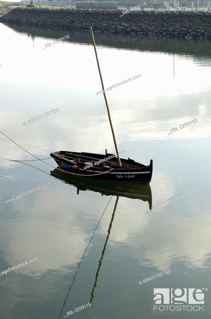 Stock Photo: Lonely boat.