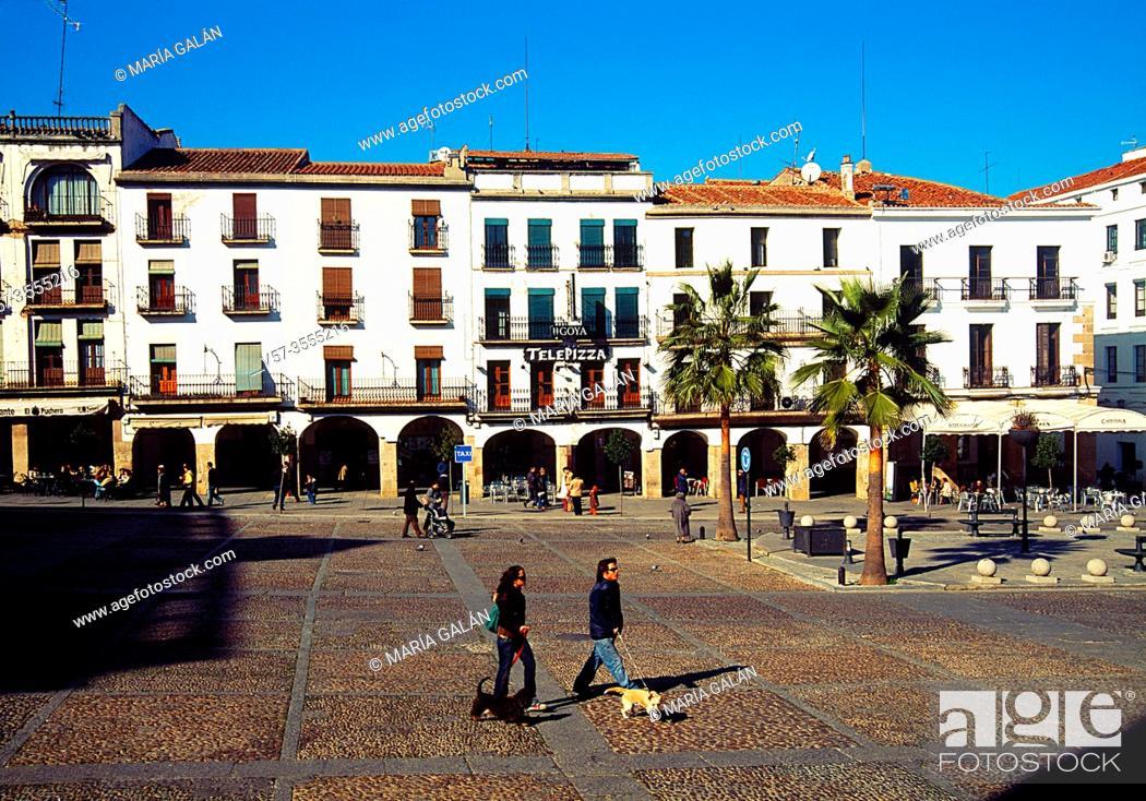 Imagen: Plaza Mayor. Caceres, Spain.