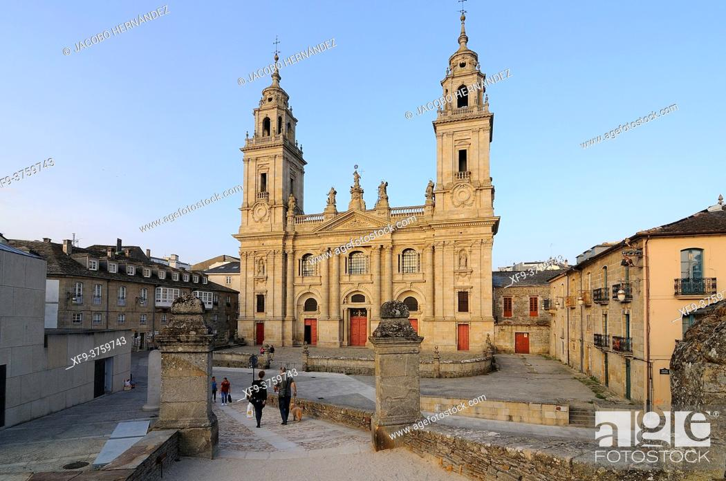 Stock Photo: Cathedral of Lugo. Galicia. Spain.