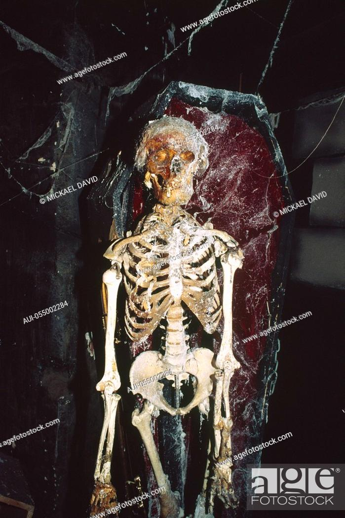 Stock Photo: England - London - Southwark district - human skeleton in London Dungeon.