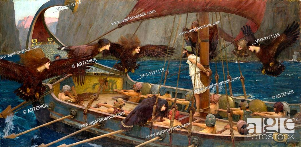 Stock Photo: Waterhouse John William - Ulysses and the Sirens 1.