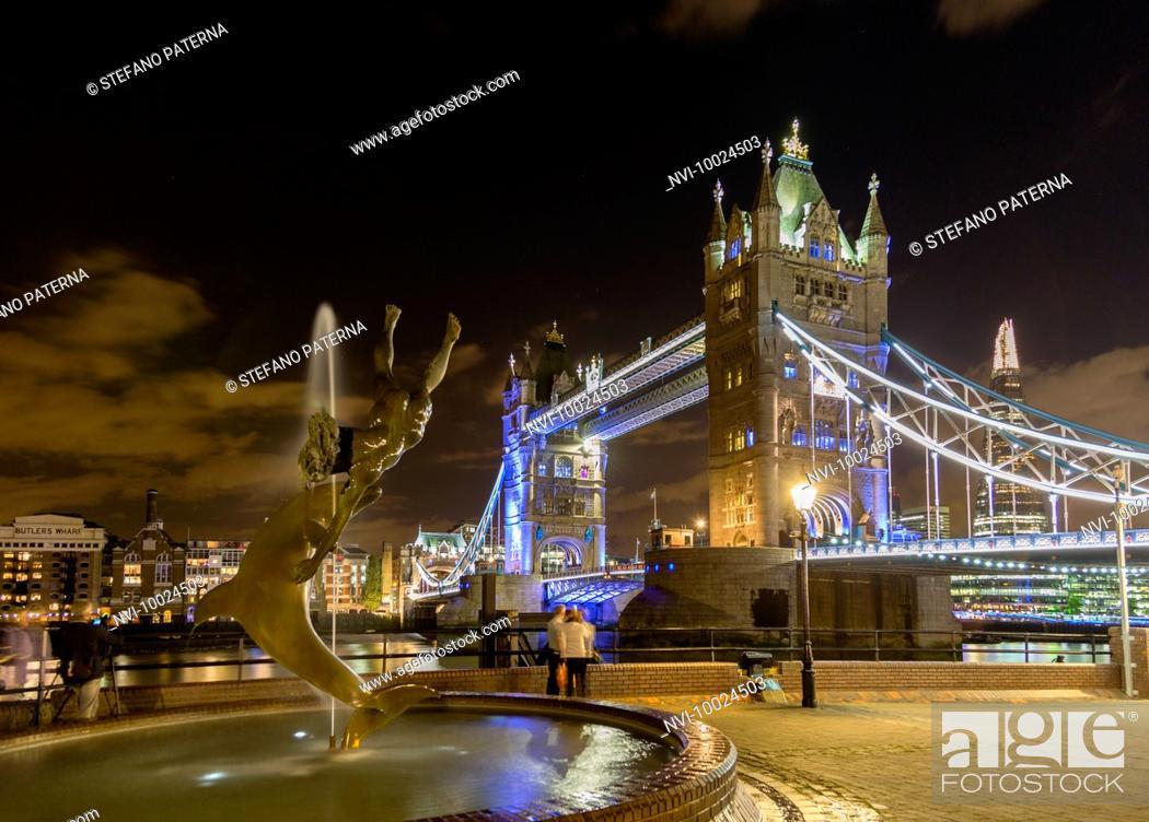 Stock Photo: Tower Bridge, London, United Kingdom.