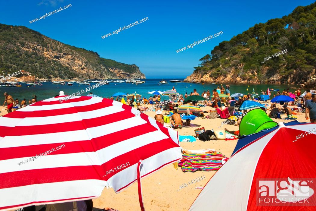 Imagen: Aiguablava beach, Begur, Baix Empordá, Costa Brava, Girona Province, Catalonia, Spain.