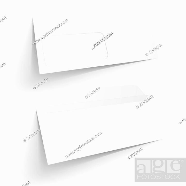 Detailed Illustration Of A Blank Envelope Mockup Templates Eps10