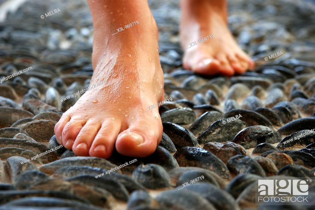 Stock Photo: Hot baths in Aran Valley  Catalonia  Spain.