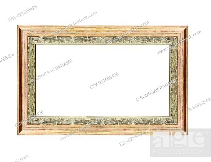Stock Photo: Empty wooden vintage frame.