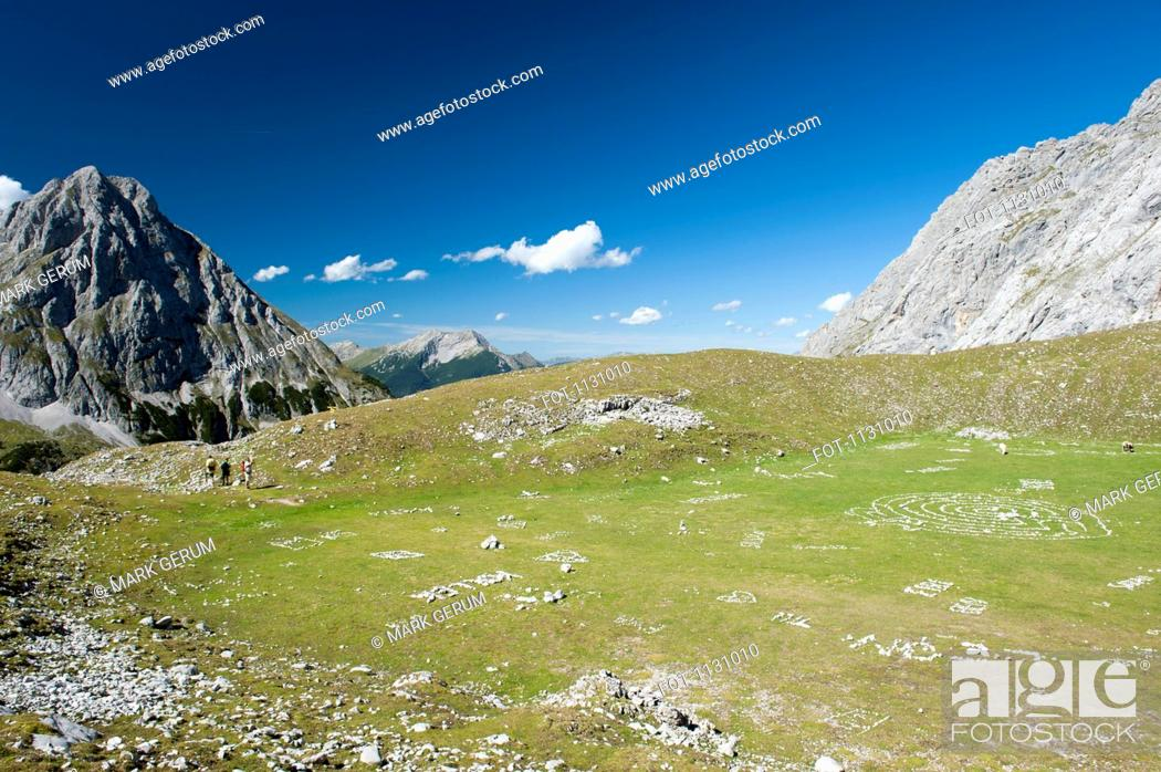 Stock Photo: A valley in the Wetterstein Mountains, Austria.