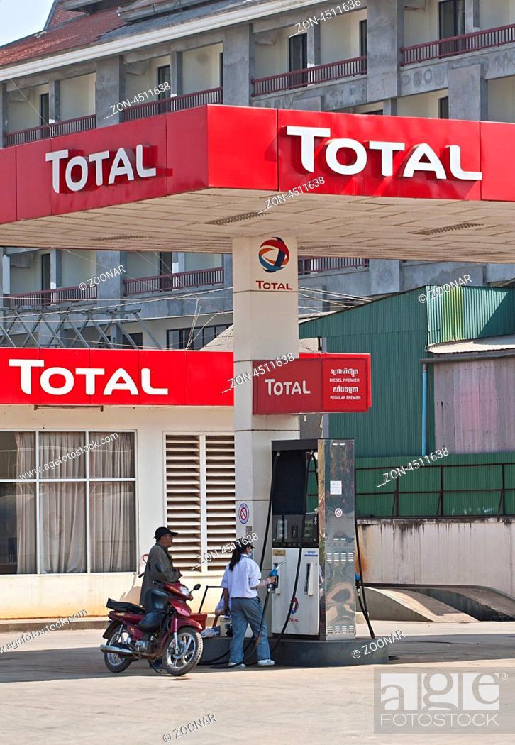 Total Tankstelle, Phnom Penh, Kambodscha, Südostasien Total