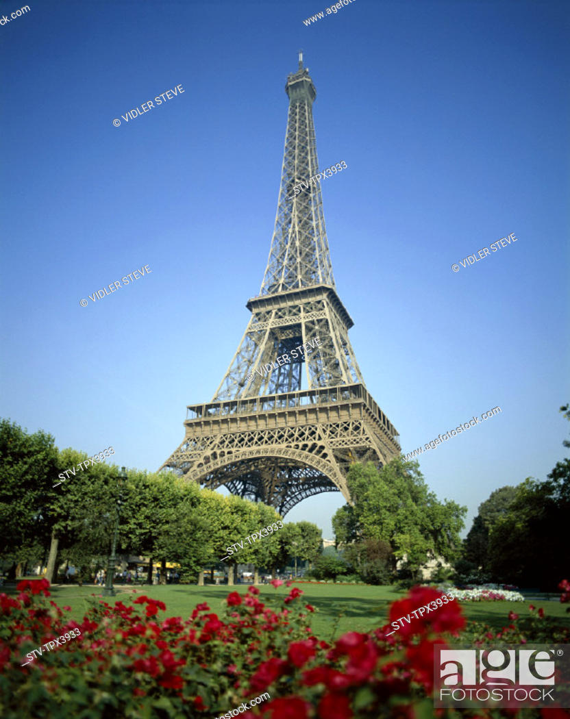 Stock Photo: Eiffel, Eiffel tower, France, Europe, Holiday, Landmark, Paris, Tour, Tourism, Travel, Vacation,.