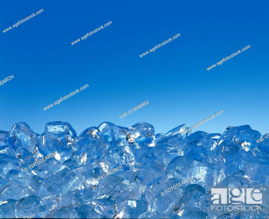 Stock Photo: frozen, natural world, cold, ice cube, cube, nature.