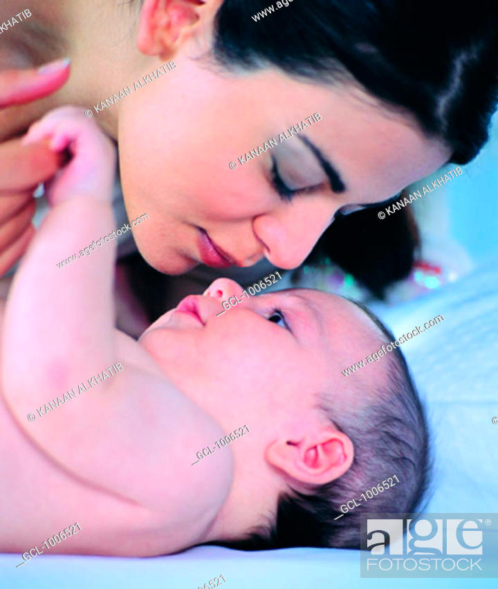 Stock Photo: Mother with Baby Boy.