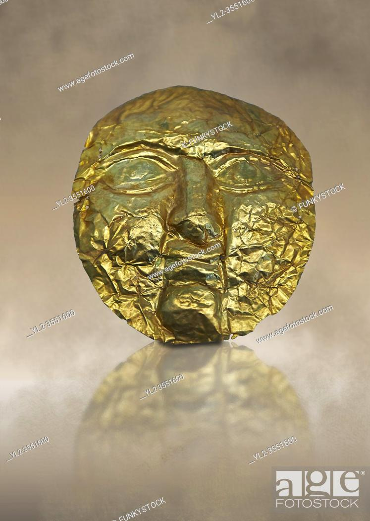 Imagen: 1st -2nd century AD gold death mask from the Roman levant. Jerusalem, Israel. British Museum no 139535.