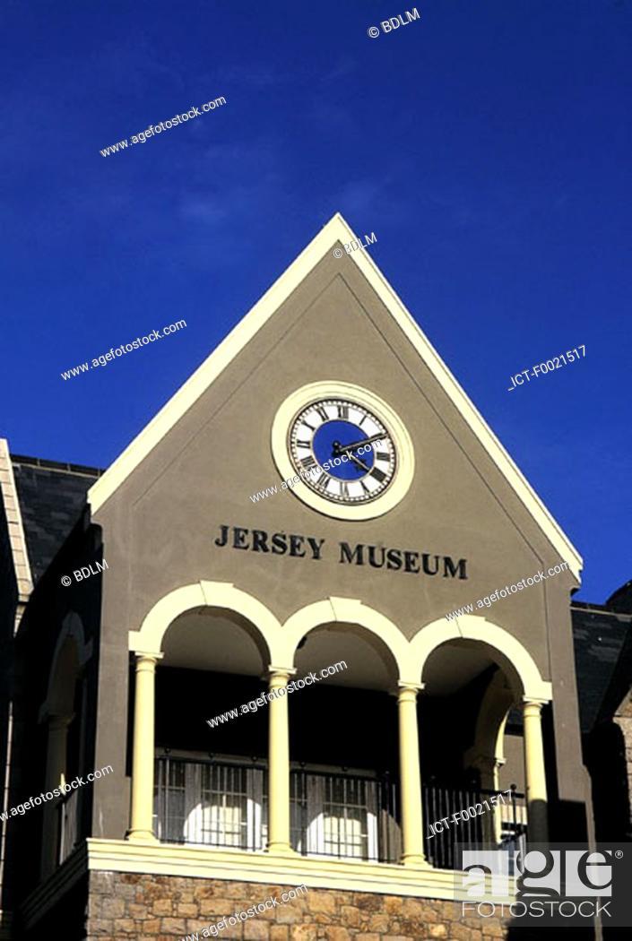Stock Photo: Channel Islands, Jersey, St Helier museum.