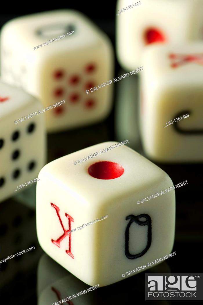 Stock Photo: Poker Dice.