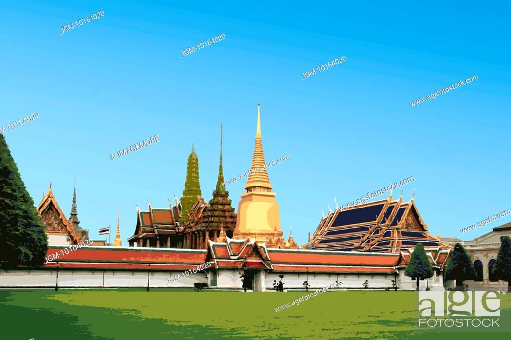Stock Photo: Thailand, Bangkok, Grand Palace, Capital Cities.