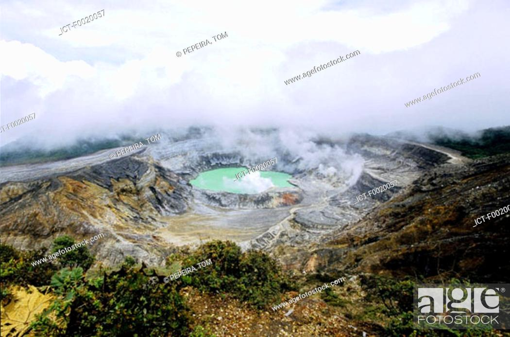 Stock Photo: Costa Rica, Poas Volcano National Park.