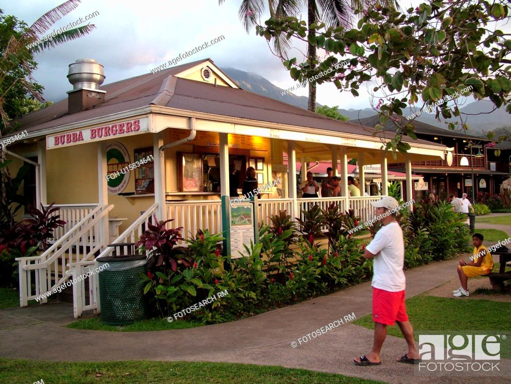 Hanalei Princeville Kauai Hi Hawaii North Shore Bubba Burgers