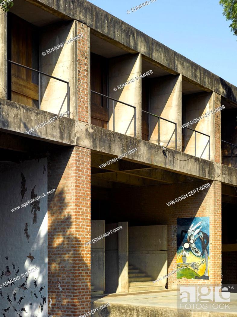 Cept University Architecture School Exterior View Stock Photo