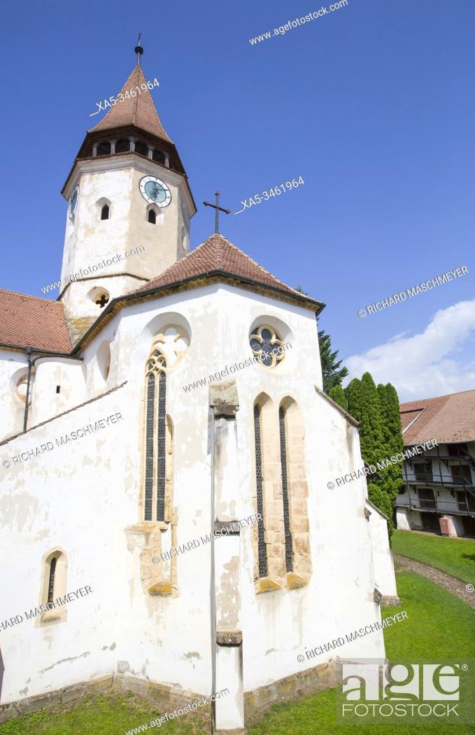 Stock Photo: Prejmer Fortified Church, 1212, UNESCO World Heritage Site, Prejmer, Brasov County, Romania.