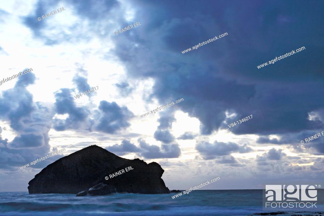 Stock Photo: Atlantic coast near Mosteiros / Sao Miguel Island / Azoren / Portugal.