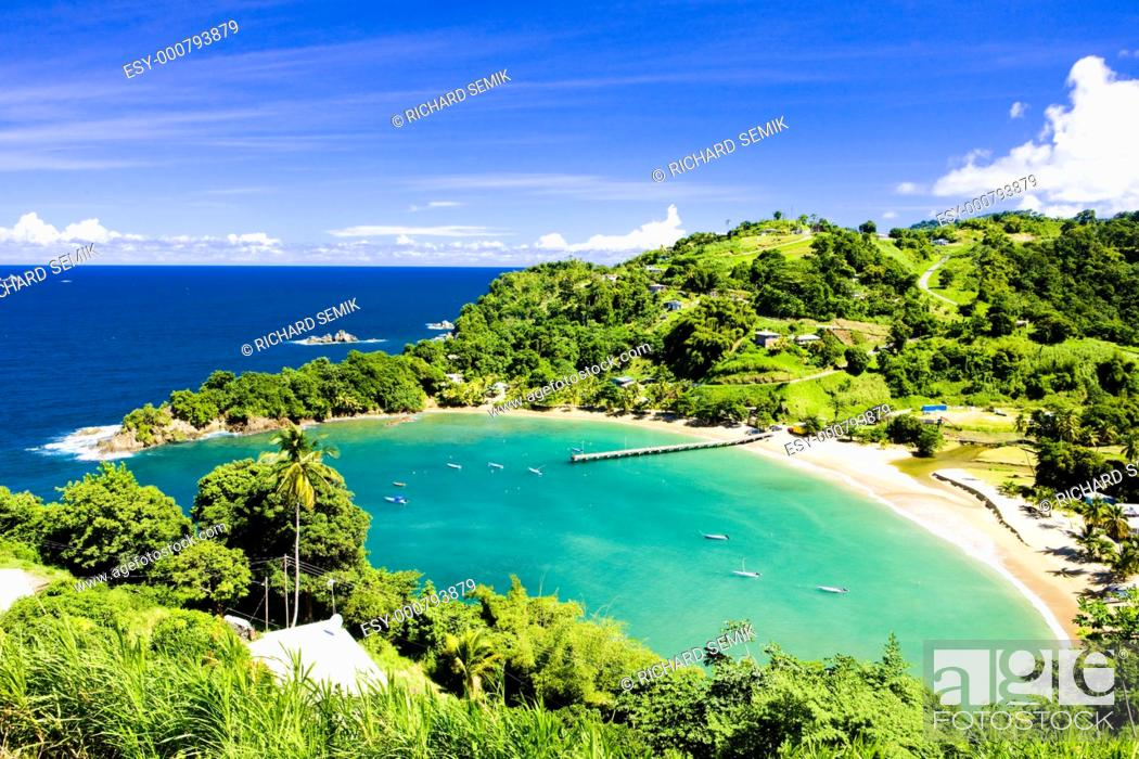Stock Photo: Parlatuvier Bay, Tobago.