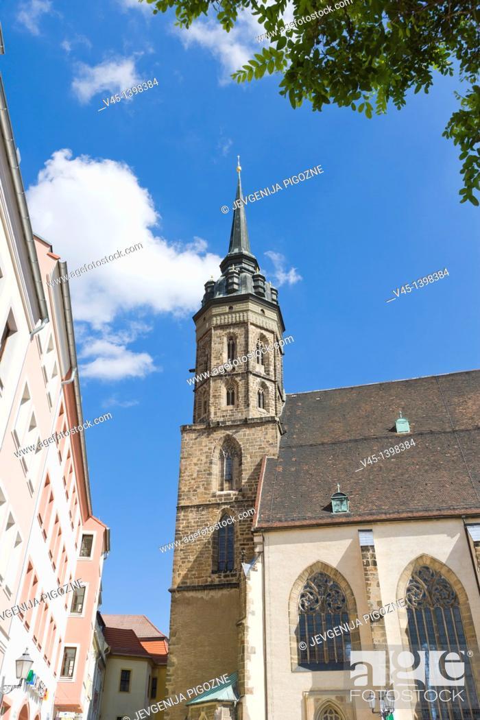 Stock Photo: St Peter's cathedral, Dom St Petri, Katedrala Swj Petra, Fleischmarkt, Meat Market, Bautzen, Budysin, Budysyn, Budziszyn, Dresden region, Eastern Saxony.