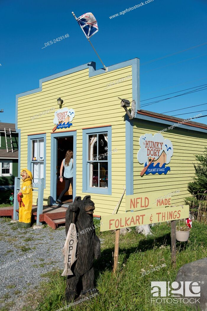Stock Photo: Shop selling newfoundland made items, Gros Morne National Park; Newfoundland, Canada.