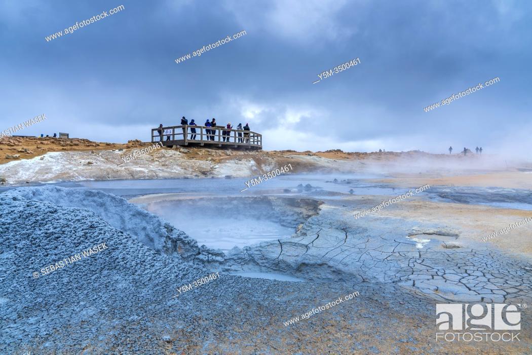 Stock Photo: Geothermal field of Hverir, Northwestern Region, Iceland.